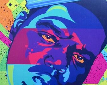 "Notorious B.I.G. ""King Biggie"" Digital Art Print"