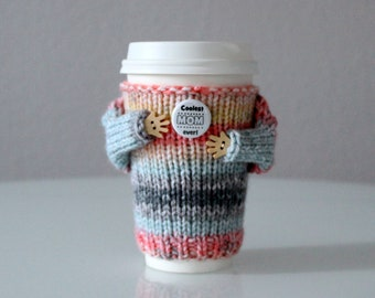 Mother's Day gift. Coffee cozy. Coolest mom ever Travel mug cozy. Cup sweater. Coffee sleeve. Gift for mom. Cup sleeve. Coffee sleeve.