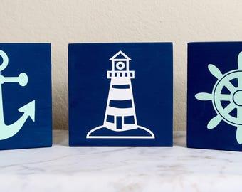 Nautical Nursery Signs - Small Nursery Signs - Nautical Nursery Decor - Nursery Decor - Baby Boy Nursery - Childrens Room Decor - Nautical