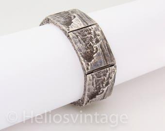 Vintage sterling silver brutalist bracelet by Knud V Andersen, Scandinavian design, modern bracelet, nordic jewelry, free shipping, gift