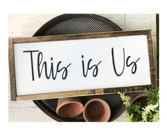 This Is Us Wood And Metal Sign Farmhouse Decor Shower Gift