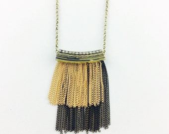 Long Boho Necklace, Tassel Necklace, Bohemian Necklace, Statement Necklace, Bib Necklace, Boho Necklace