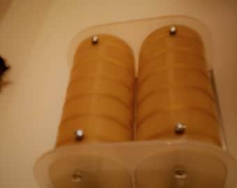single double amber wallight