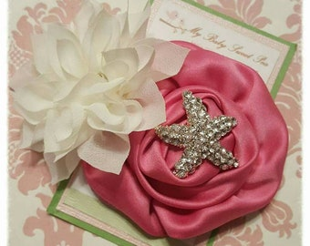 Hair clips for girls, flower hair clips, barrettes, summer hair clips, starfish hair clip