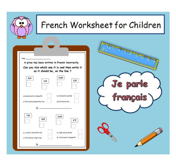 french learning numbers worksheet kids activities printables. Black Bedroom Furniture Sets. Home Design Ideas