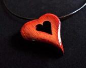 Heart Pendant in Bloodwoo...