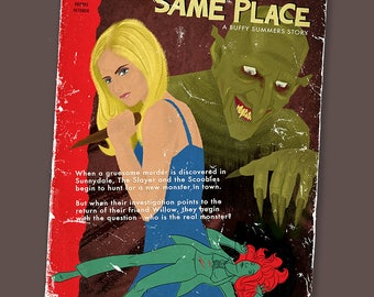 Faux Paperback Novel Cover - Same Time, Same Place (Gnarl)