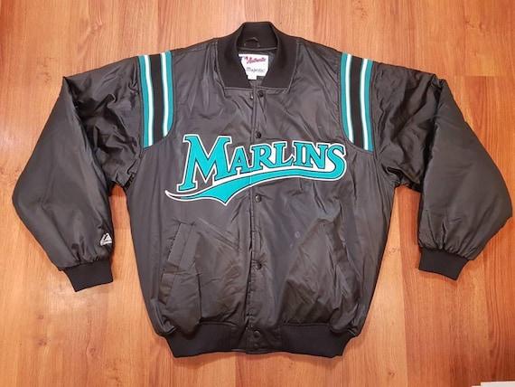 Vintage Florida Marlins DeLong Baseball Nylon Jacket Athletic Outdoor jrko7jcZMN