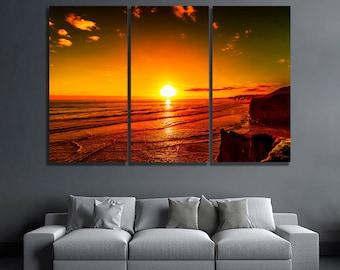 Sunset Canvas Sunset Print Sunset Poster Sunset Photo Sunset Wall Art Sunset  Wall Decor Bedroom Wall