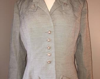 1940's Pinstripe Blazer Suit Jacket