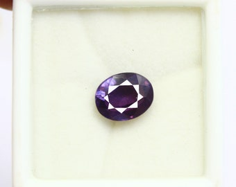 7.85Ct Certified Natural Oval Cut Heated Color Changing Alexandrite Gemstone AQ574