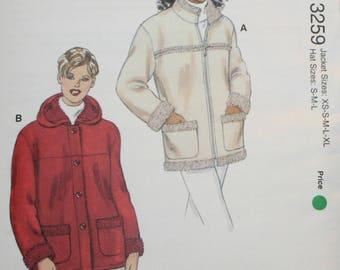 Misses Jacket Sewing Pattern - Kwik Sew 3259 - Misses Hat Sewing Pattern - New - Uncut - Size  XS, S, M, L, XL