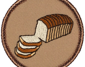 Sliced Bread Patch (150) 2 Inch Diameter Embroidered Patch