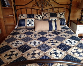 Blue and Gold Classic Quilt