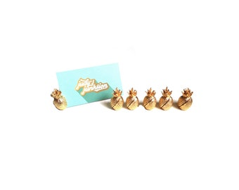 Pineapple Place Card Holders Gold Pineapple Place Card Holders Pineapple Table Number Holders Set of 6 Gold Pineapple Wedding Decor