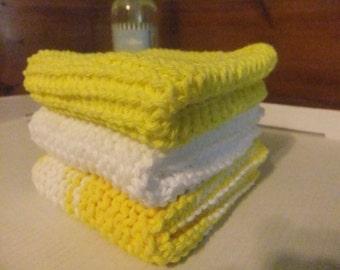 Dishcloths/SUNSHINE YELLOW DISHCLOTHS/Yellow Dishcloths