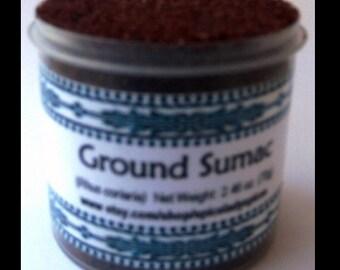 Sumac (Rhus coriaria) SpiceLady Spices  Net Weight: 2.46 oz (70g)