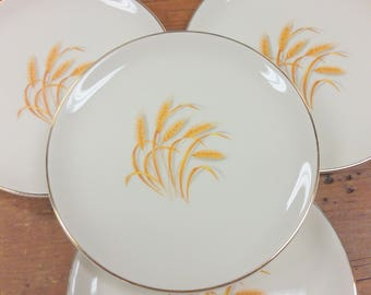 Set of 4 Bread/Side Plates ~ Homer Laughlin Golden Wheat