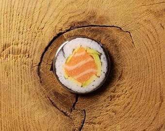 "Sushi (1-1/4"" Pinback Button)"