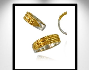 Atlantis Ring Silver and Gold _ ring Atlante silver and gold