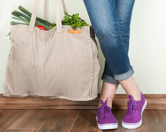 Casual Tote Bags, Beach Bags,  Linen Tote, Natural Tote Bags, Tote Bag for Women. Made by Linen and Tailor.