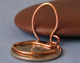 Handmade Tiny Copper Earwires, Teenie Weenie Elfin, 2 pairs