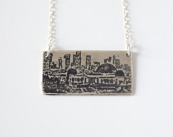 Los Angeles Necklace - L.A. Jewelry - Los Angeles Skyline -  California Necklace - Griffith Observatory - Silver Los Angeles - Souvenir