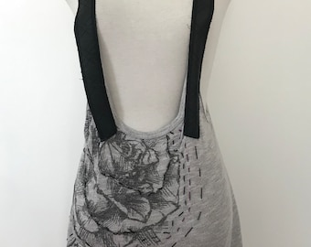 """Asymetric Grey """"Overall"""" Top"""