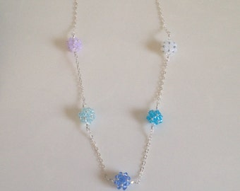 Crystal Beaded Bead Necklace