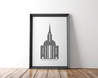 Oquirrh Mountain Utah Temple (LDS) Printable Icon