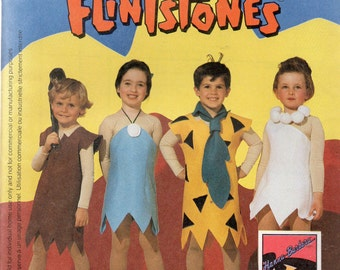 McCall's Easy 90 Minutes Costumes Pattern 7283 FLINTSTONES Boys/Girls 3-4