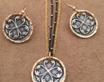 Celtic necklace and earrings