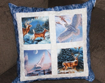 "16"" Decorative Winter Pillow Cover/ Cushion"