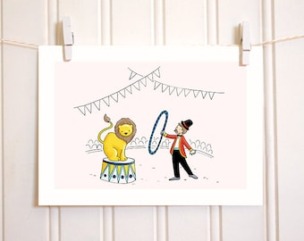 Nursery Wall Decor - Circus - Nursery Decor - Giclee Print