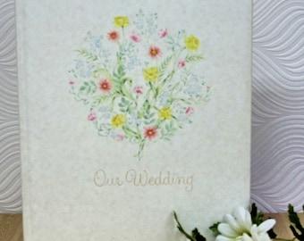 Vintage Wedding Keepsake Book, Bride and Groom Memory Album, Unused Book with Original Box, Our Wedding Memory Book