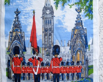 Ottawa Souvenir Tea Towel, Changing of the Guards Parliament Buildings, Lamont, Ottawa, Collectible, Tourist Towel, by mailordervintage