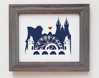 Prague - Czech Republic.  Personalized Gift or Wedding Gift