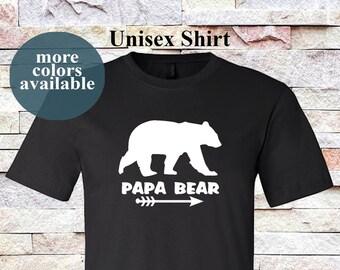 Papa Bear Shirt. Shirts for Dads. Bear Shirts for Dads. Matching shirts. Father Shirt. Father Day. Bear Silhouette.