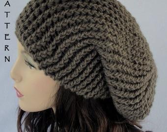 Crochet  Hat Pattern, Crochet beanie pattern,  slouch hat pattern, Toddler - Child - Adult, Slouchy Hat Pattern,  Providence Slouchy Hat