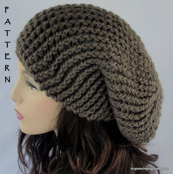 Crochet Hat Pattern Crochet Beanie Pattern Slouch Hat