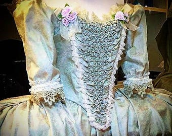 18th Century Dress, Marie Antoinette Dress, 18th Century Closing, Corset Dress, Masquerade Costume, Halloween Costume, Dress for Girls.