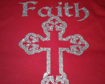Faith Tshirt, Bling Shirt, Trendy Tee