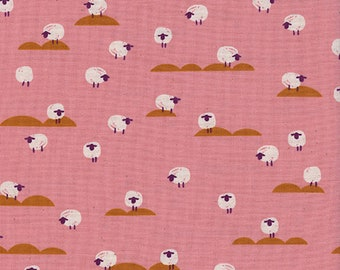Cotton + Steel Panorama Sunrise - sheep - coral - 50cm