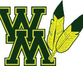 """3"""" William & Mary feather decal"""