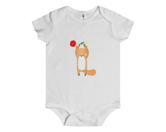 Onesie FOXY With Big Red Flower Infant