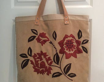 Large Tote Bag, Weekend Bag, Overnight Bag, Women's Bag, Recycled Textiles, Unique, Handmade