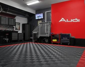 Audi Garage Sign 4.5 Feet Long Brushed Silver