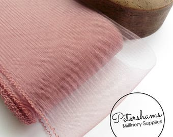 15cm (6 inch) Wide Crinoline (Crin, Horsehair Braid) for Hats, Millinery, and Fascinators - Dusky Pink