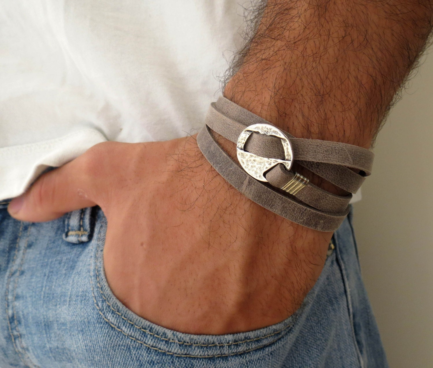 Mens Bracelet Mens Leather Bracelet Mens