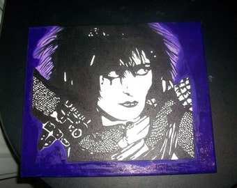 siouxsie sioux siouxsie and the banshees punk rock handpainted acrylic to order A4 size Canvas